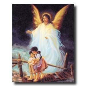 Amazon.com: Art Prints Inc African American Guardian Angel ...