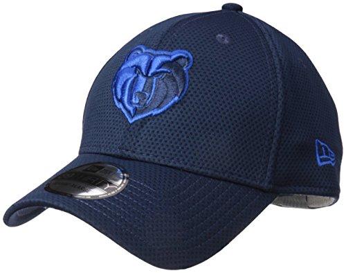 NBA Memphis Grizzlies Adult Tone Tech Redux OTC 39THIRTY Stretch Fit Cap, Large/X-Large, Oceanside Blue (Era New Stretch)