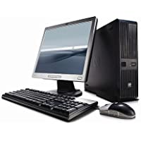 Fast HP Business Desktop Computer Tower PC (Intel Core 2 Duo, 4GB Ram, 500GB HDD, WIFI, DVD-RW, Complete PC With 17 Monitor, K.B & Mouse) Win 7 Pro With CD (Certified Refurbished)