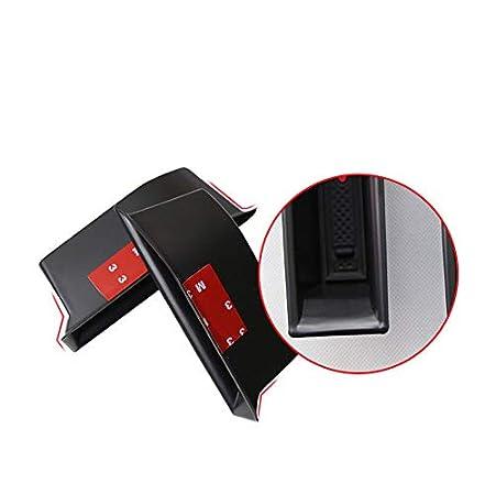 Yueng Car Interior Scatola portaoggetti Anteriore in plastica Nera con 2 Ripiani