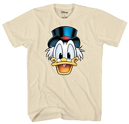 Disney Ducktales Uncle Scrooge McDuck Big Face Costume T-Shirt (Natural,Large) -