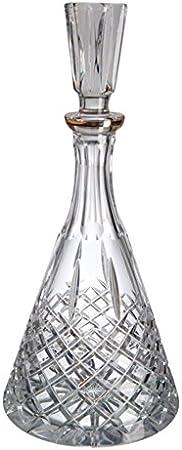 Cristal de Bohemia Blues Filo Botella de Licor o Whisky, Cristal, 16x16x34 cm