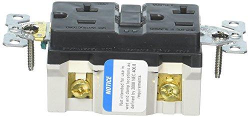 EATON Wiring VGF20BK 20-Amp 2-Pole 3-Wire 125-Volt Duplex Ground Fault Circuit Interrupter, Black
