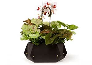 Woolly Pocket Island Tina w/Reservoir (works indoors and outdoors) (Color: Chocolate) Garden (Modular, Sustainable, Eco, Green) Planter