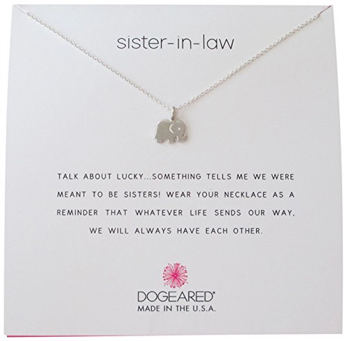 Dogeared Sister In Law Elephant Reminder Boxed 16''-18'' Necklace (sterling-silver) by Dogeared (Image #2)