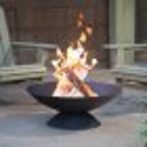 Fire Pit Iron Cast Outdoor Fireplace Wood Patio Heater Burning Backyard Bowl Round New Finish Inch Copper 30 Black ()