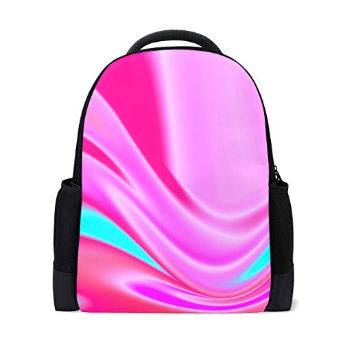 CLveg Backbag Printing Lightweight Bookbags School Backpacks for Teen Girls Boy Travel Leisure Abstract Swirl Zipper Printing - Zipper Swirl