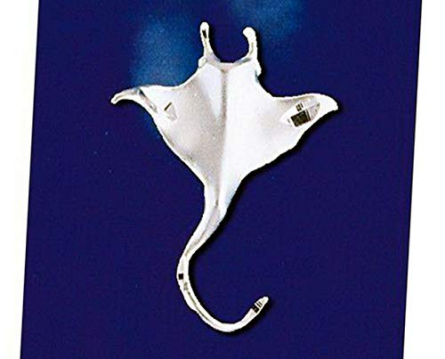 Sterling Silver Stingray Pendant Ray Ocean Marine Shark Charm Solid 925 Vintage Crafting Pendant Jewelry Making Supplies - DIY for Necklace Bracelet Accessories by CharmingSS