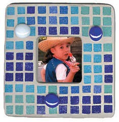 Jennifer's Mosaics 1-Pound 3/8-Inch Deco Ceramic Mosaic Tile, Royal Blue