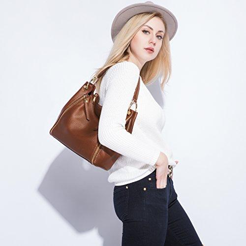 Mode Sac Femme Cuir À Marron Sacs Main Synthétique La De Épaule Porté Hobo Pu qrgqU7n
