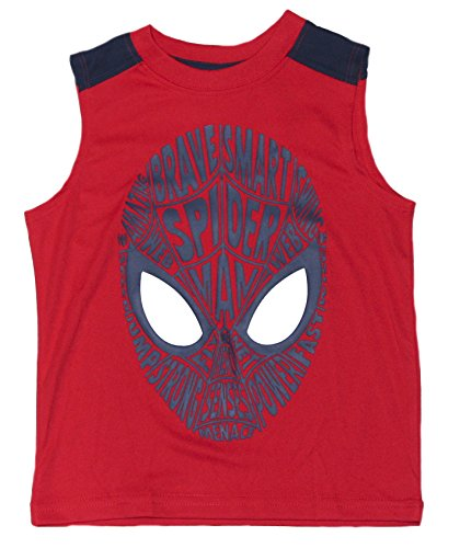 spider-man+tank+tops Products : Marvel Boys Red Spider-Man Sleeveless Tank T-Shirt