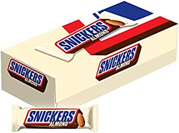 24-Pack Snickers Almond Singles Size Chocolate Candy Bars