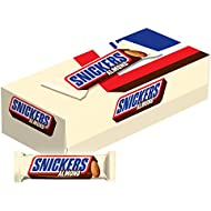 SNICKERS Almond Singles Size Chocolate Candy Bars 1.76-Ounce Bar 24-Count Box