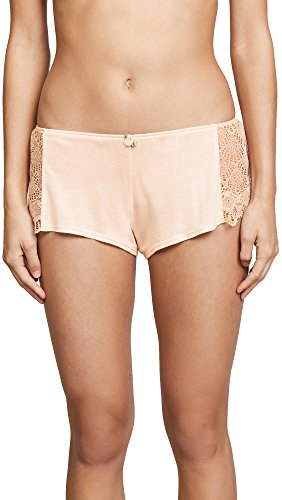 Only Hearts Women's Venice Hipster Shorts with Lace Insets, Vanilla Rose, Large