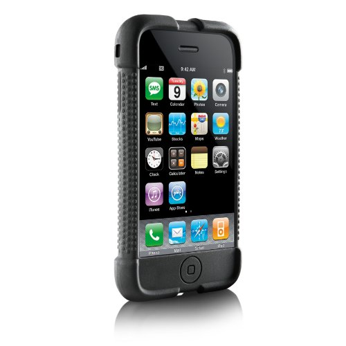 Digital Lifestyles Outfitters Jam Jacket with 3 Surface Shields for iPhone 3G, 3G S (Black) - Dlo Surface Shields