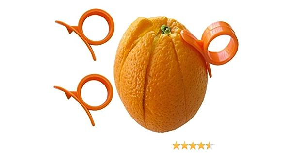 raspador de c/ítricos para utensilios de cocina herramienta de ensalada Pelador de c/ítricos de acero inoxidable pelador de frutas de lim/ón y naranja