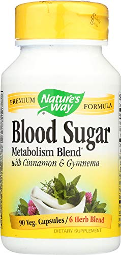 - Nature's Way (NOT A CASE) Blood Sugar Metabolism Blend with Cinnamon & Gymnema, 90 Capsules