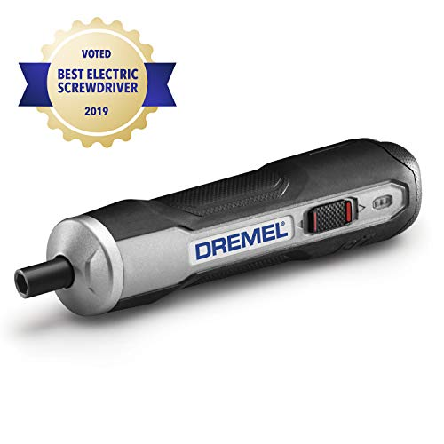 Dremel GO-01 Powered Cordless Electric Screwdriver Set- Phillips, Flat, Hex Head- Precise Screw Driver- Automatic, Small, Portable - Integrated Rechargeable Battery with USB