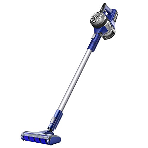 Eureka NEC122A Power Plush Cordless 2-in-1 Stick Vacuum, Rechargeable Lithium Ion Battery with Wall Mount, Grey on Blue Violet