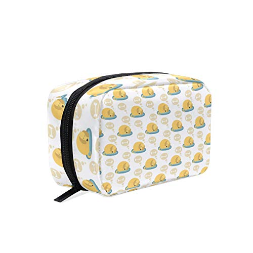 (Colorful Travel Toiletry Bag Cosmetic Bags Multifunction Portable Ladies Travel Square Bag Cosmetic Make up Brushes Storage Bag for Travel-Dog Kennel Sleeping Dreaming Of Bones Yellow)