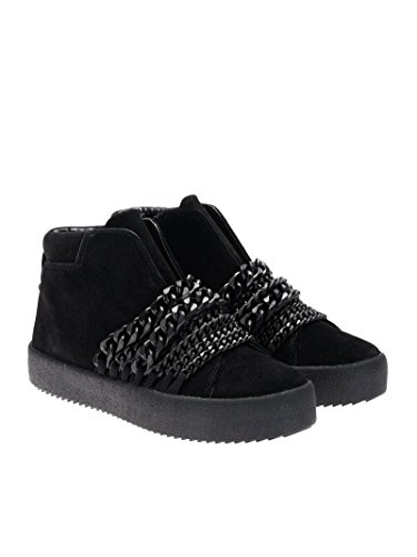 Kendall and KKDUKE01 Nero Sneakers Kylie Hi Camoscio Top Donna 6Oq6wrS