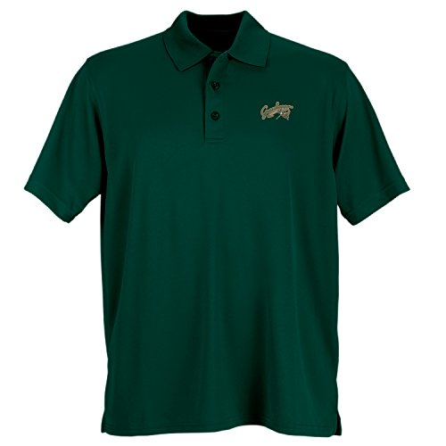 Vantage Minor League Baseball Greensboro Grasshoppers Men's Performance Mesh Polo Shirt, XX-Large, Dark Forest