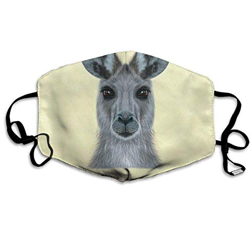 Liayai7. Anti Dust Mask Kangaroo Sketch,Face Mouth Cover Winter Healthy Warm for Girls Halloween Mouth Masks
