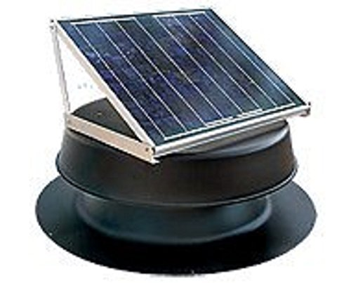 Solar Attic Fan - 36 Watts - 2500 sq ft - Black