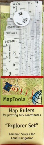 Explorer Map Ruler Set 24 Ruler Covering 24 Different Map Scales