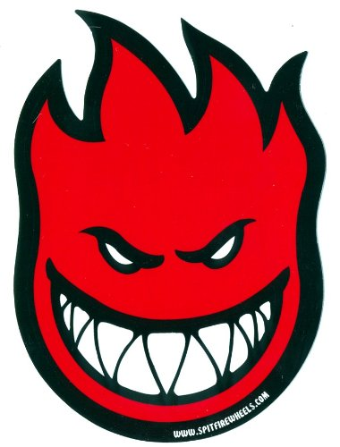 Spitfire wheels red fireball skateboard sticker skate board flame fire skate skateboarding sk8