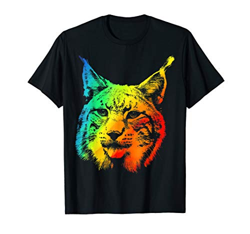 (LYNX Colorful Rainbow Retro T-shirt)