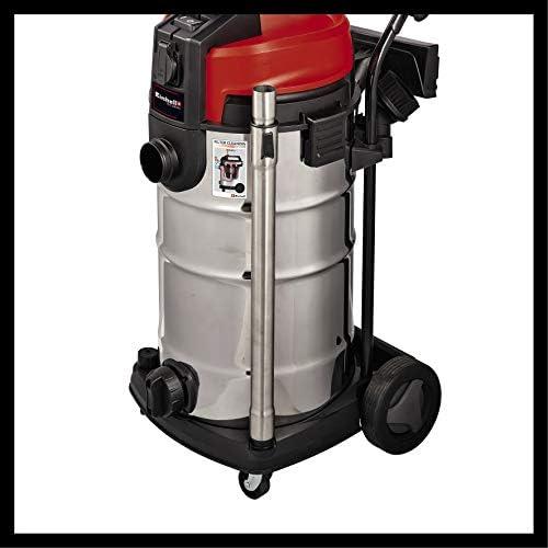 Einhell Te-VC 2340 Sac Aspirateur Sec et Humide 1200 W 40 L Système de Nettoyage de Filtre à poussière Fine Réservoir en Acier avec filtres et Buses Tuyau en Plastique de 3 m