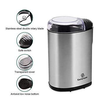 Younar Coffee Grinder and Electric Spice Grinder 200W Electric Coffee Blade Grinders with Stainless Steel for Spices, Herbs, Nuts, Grains