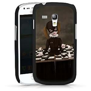 Carcasa Design Funda para Samsung Galaxy S3 Mini I8190 HardCase black - Cat Girl