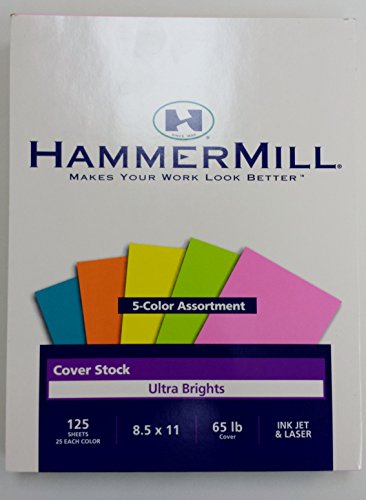 Cover Stock Assortment (Hammermill Ultra Brights Cover Stock 5 Color Assortment)