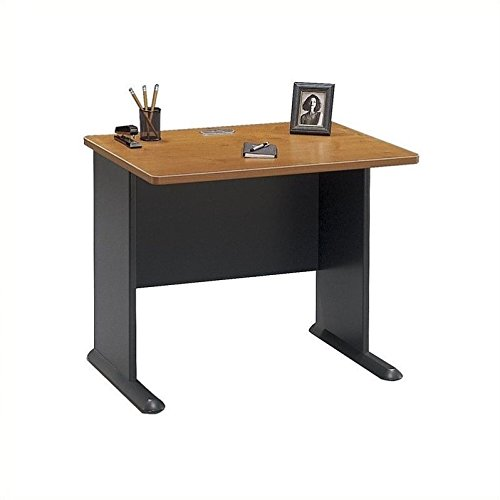 Bush Business Furniture Series A 36W Desk in Natural Cherry and Slate Bush Cherry Modular Desk