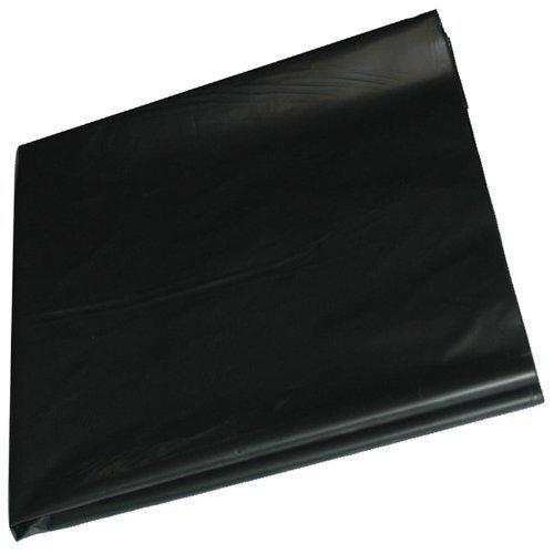 QVS Shop 4M X 8M Black Polythene Sheeting 125Mu / 500G Plastic Sheet Protection Cover Gardener' s Dream