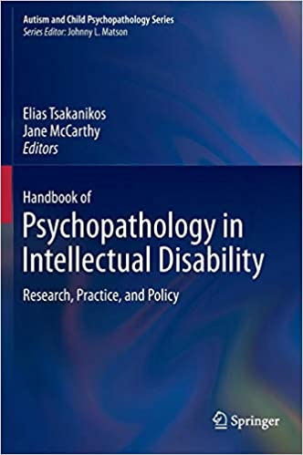 Autism With Intellectual Disability >> Handbook Of Psychopathology In Intellectual Disability Research