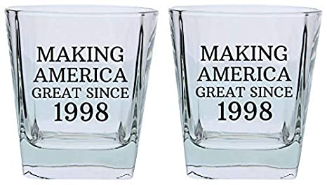 21st Birthday Gifts For Brother Sister Making America Great Since 1998 Party Supplies Square