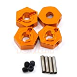 Xtra Speed Aluminum Hex Adapter 12mm x 5mm Orange For AXIAL SCX10 Crawler #XS-SCX22488