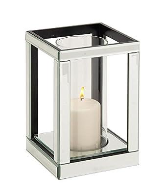 Deco 79 87238 Wood Mirror Candleholder