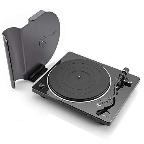 Denon DP-450USB Semi-Automatic Analog Turntable | USB Output for Recording | Speed Auto Sensor | Specially Designed Curved Tonearm | 33 1/3, 45, 78 RPM (Vintage) Speeds | Modern Looks, Superior Audio