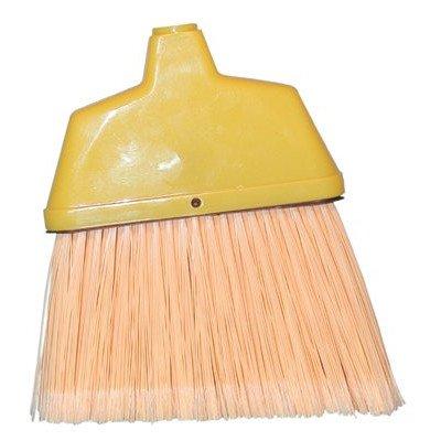 Angle Brooms - small angle /cream plastic broom with handle [Set of 12]