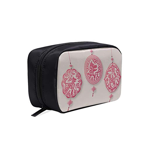 (China Knows Good Luck And Good Luck Portable Travel Makeup Cosmetic Bags Organizer Multifunction Case Small Toiletry Bags For Women And Men Brushes Case)