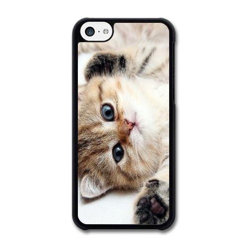Cute Kitten Blue Eyes iPod Touch 6 Case Blcak iPod Touch 6 Cover -