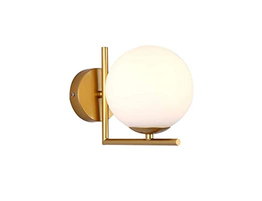 Wall Light Postmodern Bronze Wall Lamp High-end Hotel Personality Creative Corridor Wall Lamp Sub-White Ball Glass Lamps - - Amazon.com