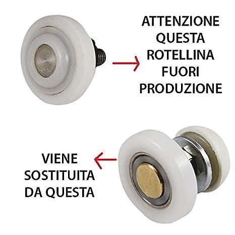 Accessori Box Doccia Cesana.Cesana Kit 4 Rotelline Cuscinetto Serie 900 Tecno Per Box Doccia