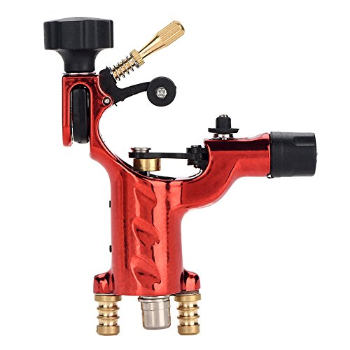 Professional Rotary Tattoo Machine, Fashion Rotary Liner Shader Tattoo Machine Strong Motor Gun RCA Cord Artist Acessories(Red)