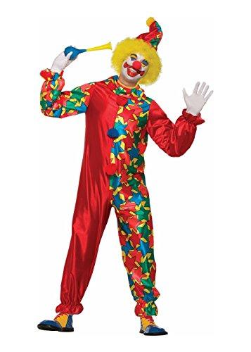 Star Clown Costumes (Forum Men's Classic Star Clown Costume, As Shown, STD)