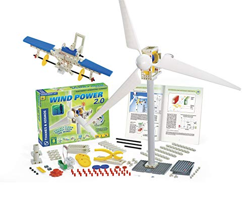 Thames & Kosmos Wind Power 2.0 Science Experiment Kit | Build Wind-Powered Generators to Energize Electric Vehicles | 3-Foot-Tall Long-Bladed Turbine | Experiments in Renewable Energy by Thames & Kosmos (Image #2)